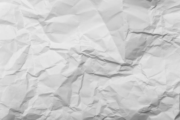 Texture de fond de papier blanc froissé