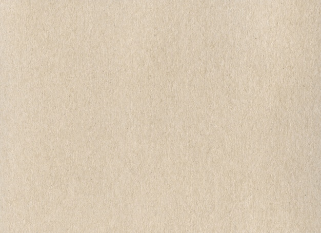Texture de fond de papier carton kraft beige propre.