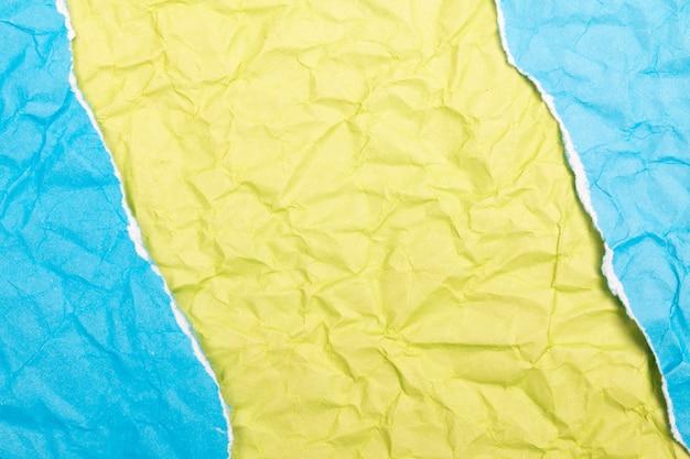 Texture ou fond de papier froissé détaillé