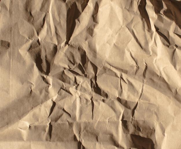 Texture ou fond de papier froissé