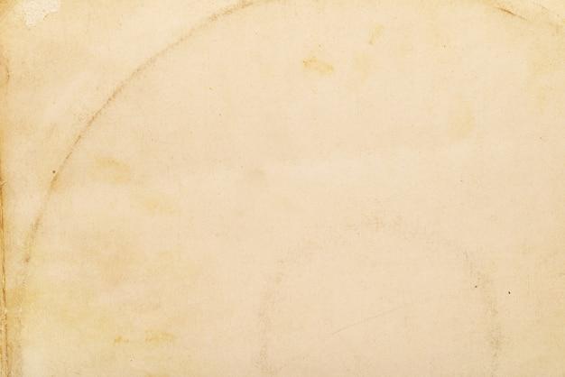 Texture ou fond de papier jaune propre vide âgé. prise de vue macro