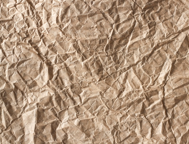 Texture de fond de papier kraft froissé. espace de copie