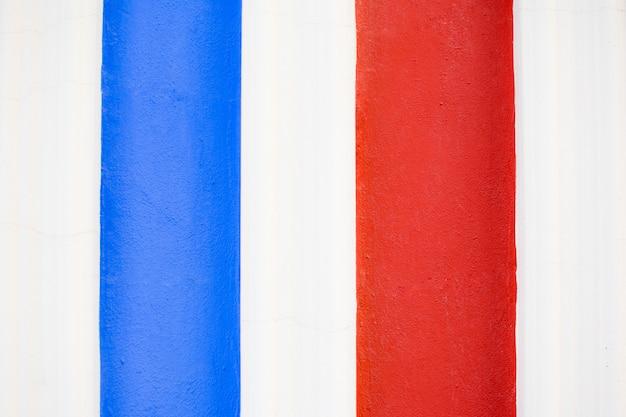 Texture de fond de peinture bleu, blanc et rouge