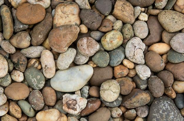 Texture et fond de pierres de galets