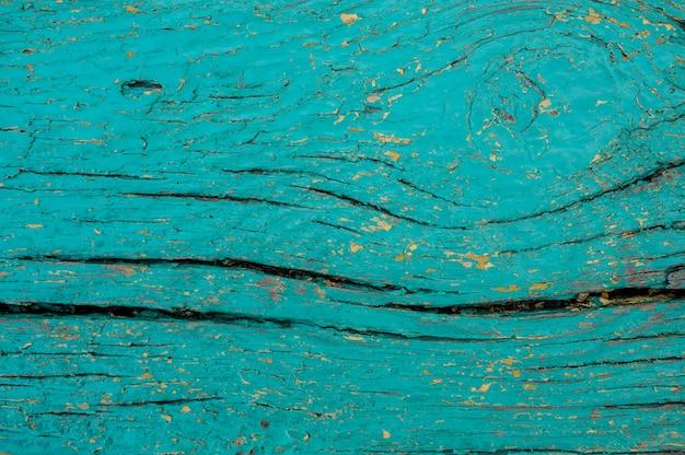 Texture de fond de la planche de bois peinte en bleu