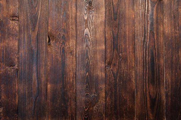 Texture de fond de planches de bois marron