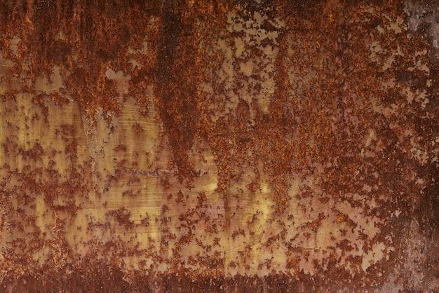 Texture de fond de plaque de métal rouillé. plaque d'acier avec tôle presque pleine recouverte de rouille.