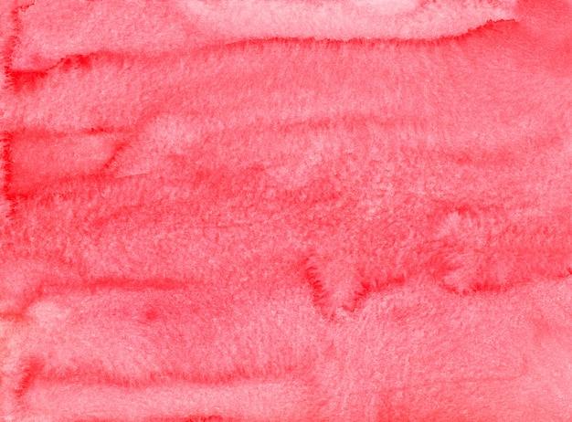 Texture de fond rouge clair aquarelle peinte à la main. contexte artistique coups de pinceau aquarelle sur papier.