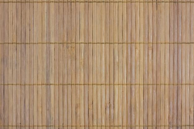 Texture et fond de style japonais de tapis de bambou