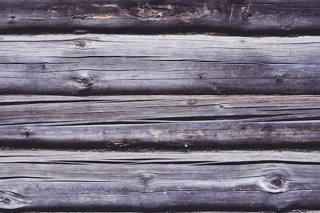 Texture de fond. surface brune vieillie de la maison en rondins, espace de copie