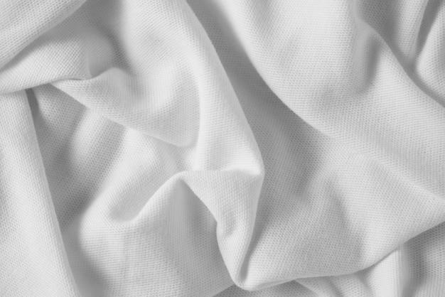 Texture de fond de tissu blanc