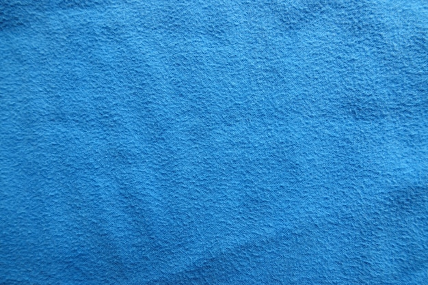 Texture de fond de tissu bleu close-up