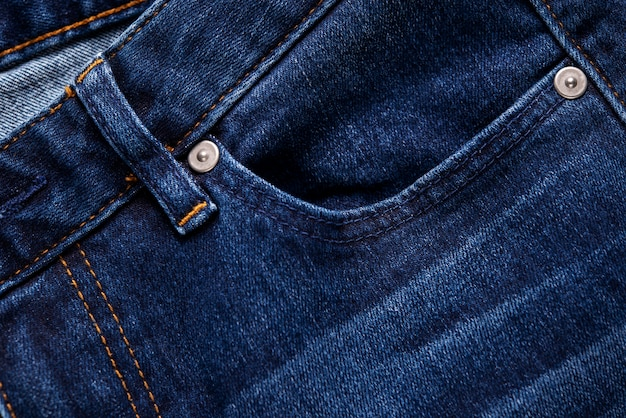 Texture de fond de tissu bleu denim.