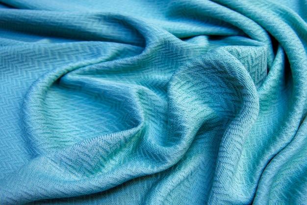 Texture et fond de tissu froissé. abstrait, modèle vide. mise au point sélective.