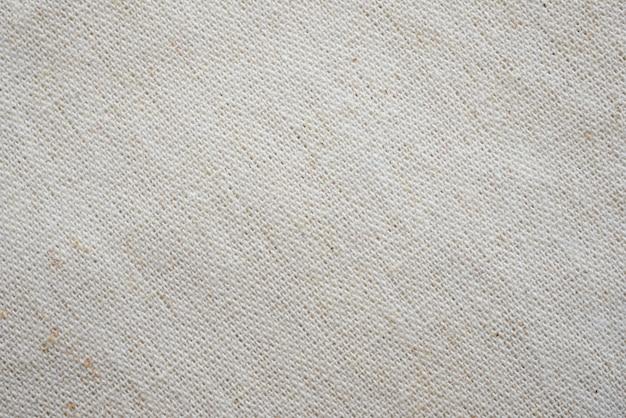 Texture de fond de tissu de tissu de calicot blanc
