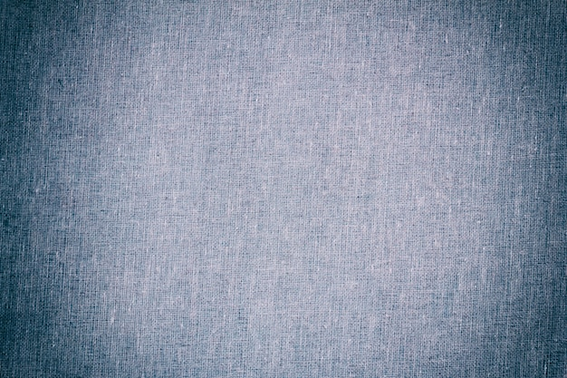 Texture de fond de tissu toile bleu clair avec vignette