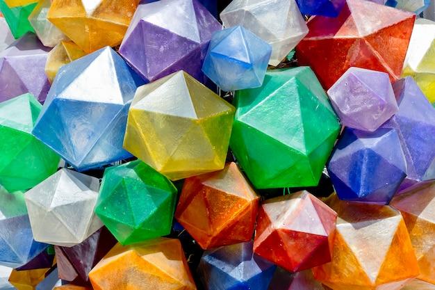 Texture de fond triangulaire coloré