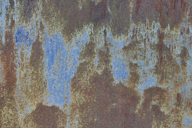 Texture de fond de vieux métal avec gros plan de rouille.