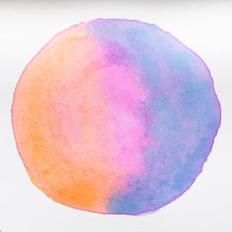 Texture de forme arrondie sur toile