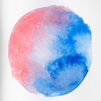 Texture de forme arrondie vibrante sur toile