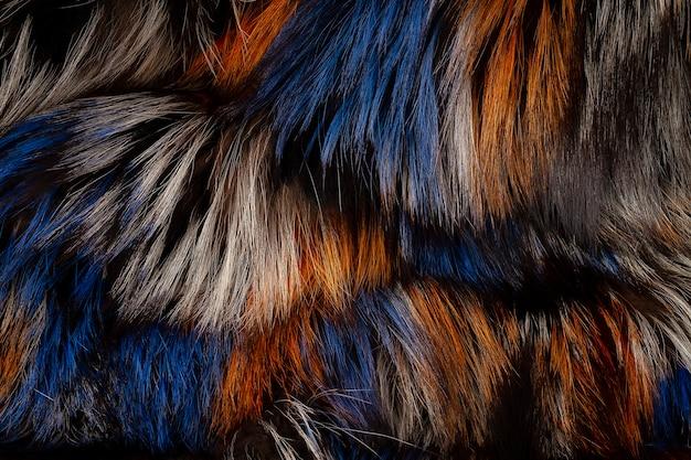 Texture de la fourrure de renard naturel