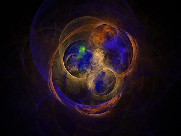 Texture fractale luxuriante imaginative générée abstrait image