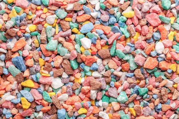 Texture de galets colorés