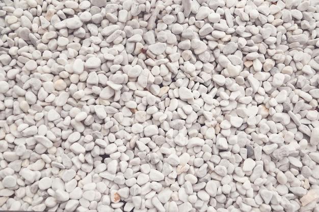 Texture de galets décoratifs blancs