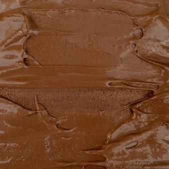 Texture de glace au chocolat. vue de dessus.