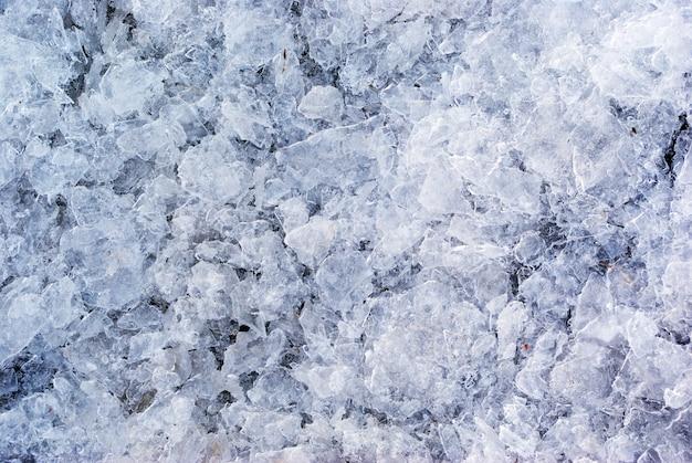Texture de glace brisée