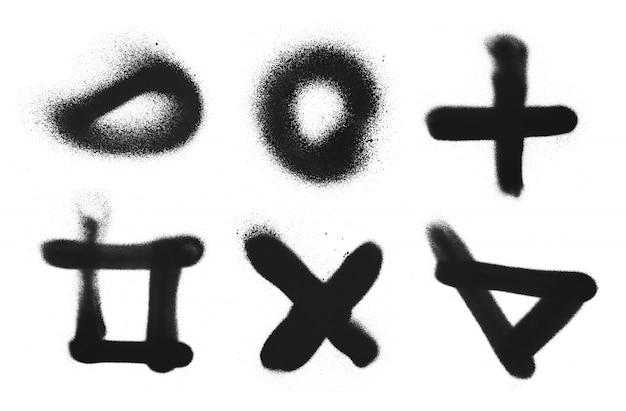 Texture de graffiti de peinture en aérosol simple à main levée. élément d'encre grunge