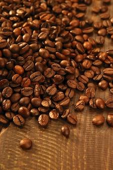 Texture de grains de café grillés
