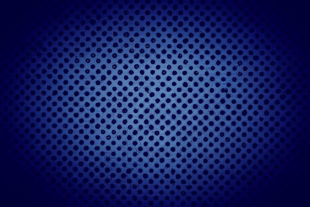 Texture de grille en acier bleu foncé. image simple en demi-teinte
