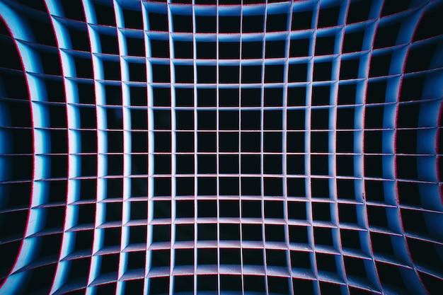 Texture de grille incurvée avec fond d'aberration chromatique hd