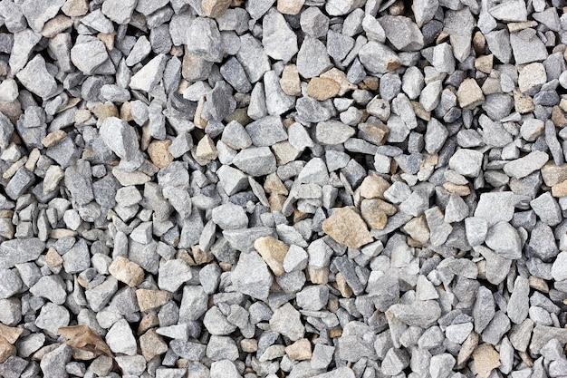 Texture de gros plan gros plan de pierre concassée. texture de pierre