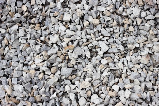 Texture de gros plan gros plan de pierre concassée.