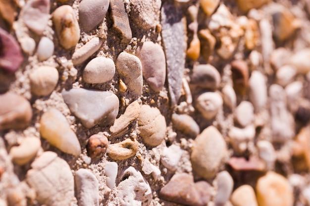 Texture de gros plan pierres
