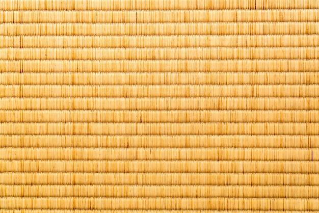 Texture gros plan de tatami japonais
