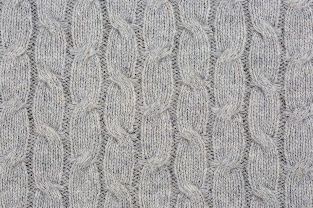 Texture gros plan d'un tissu tricoté d'une usine