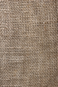 La texture de gros plan de toile de jute. fond de texture de toile de jute