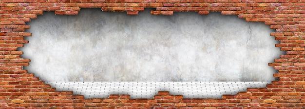 Texture grunge d'un mur de briques, maçonnerie en ruine pour le fond