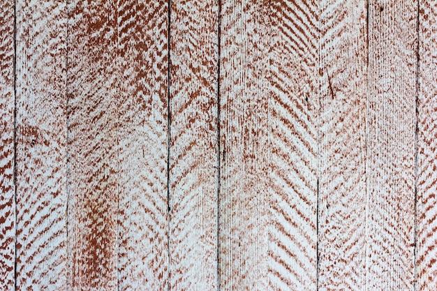 Texture grunge rétro en bois blanc taché de peinture brune