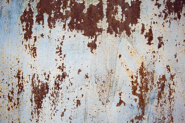Texture grunge - la surface en acier avec des taches de rouille
