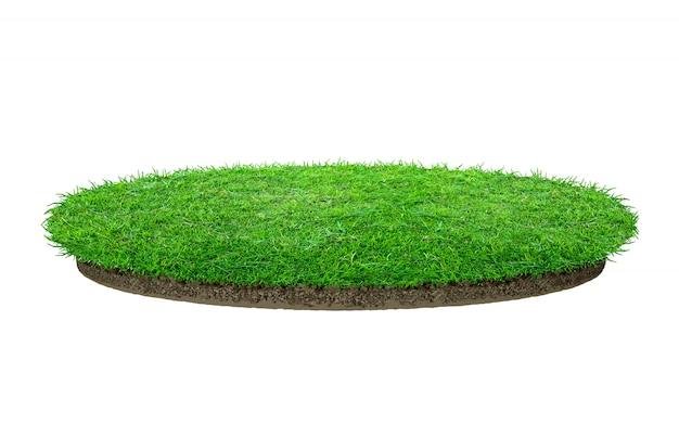 Texture d'herbe verte abstraite. cercle d'herbe verte isolée