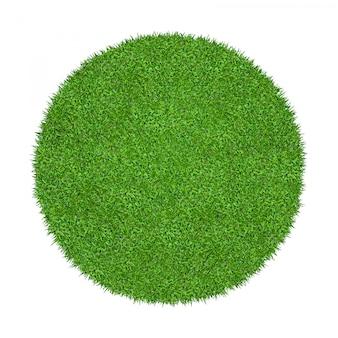 Texture d'herbe verte abstraite pour le fond. cercle d'herbe verte isolée