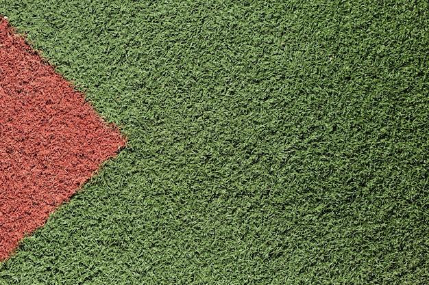 Texture de l'herbe verte et rouge