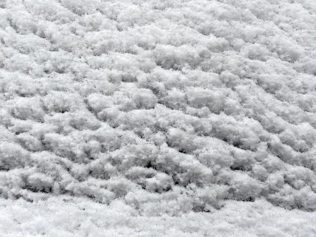 Texture d'hiver, fond de neige, gros plan