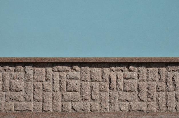 Texture horizontale de fondation en pierre de granit mosaïque grossière et forte