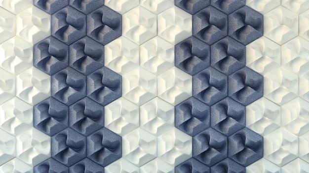 Texture intérieure blanche et bleue, modèle sans couture. illustration 3d, rendu 3d.