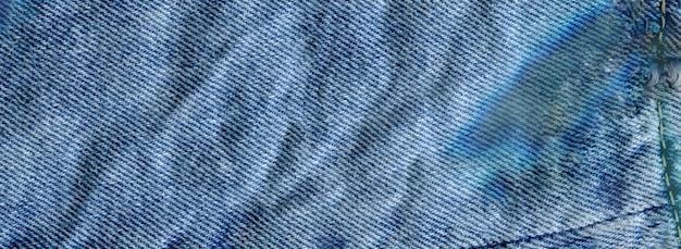 Texture, de, jean, textile, gros plan